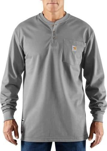 CARHARTT FLAME-RESISTANT CARHARTT FORCE® COTTON LONG-SLEEVE HENLEY - Patton's