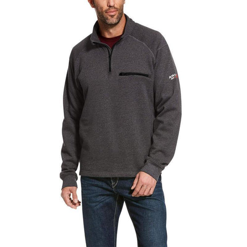 ARIAT FR REV CHARCOAL 1/4 ZIP - Patton's