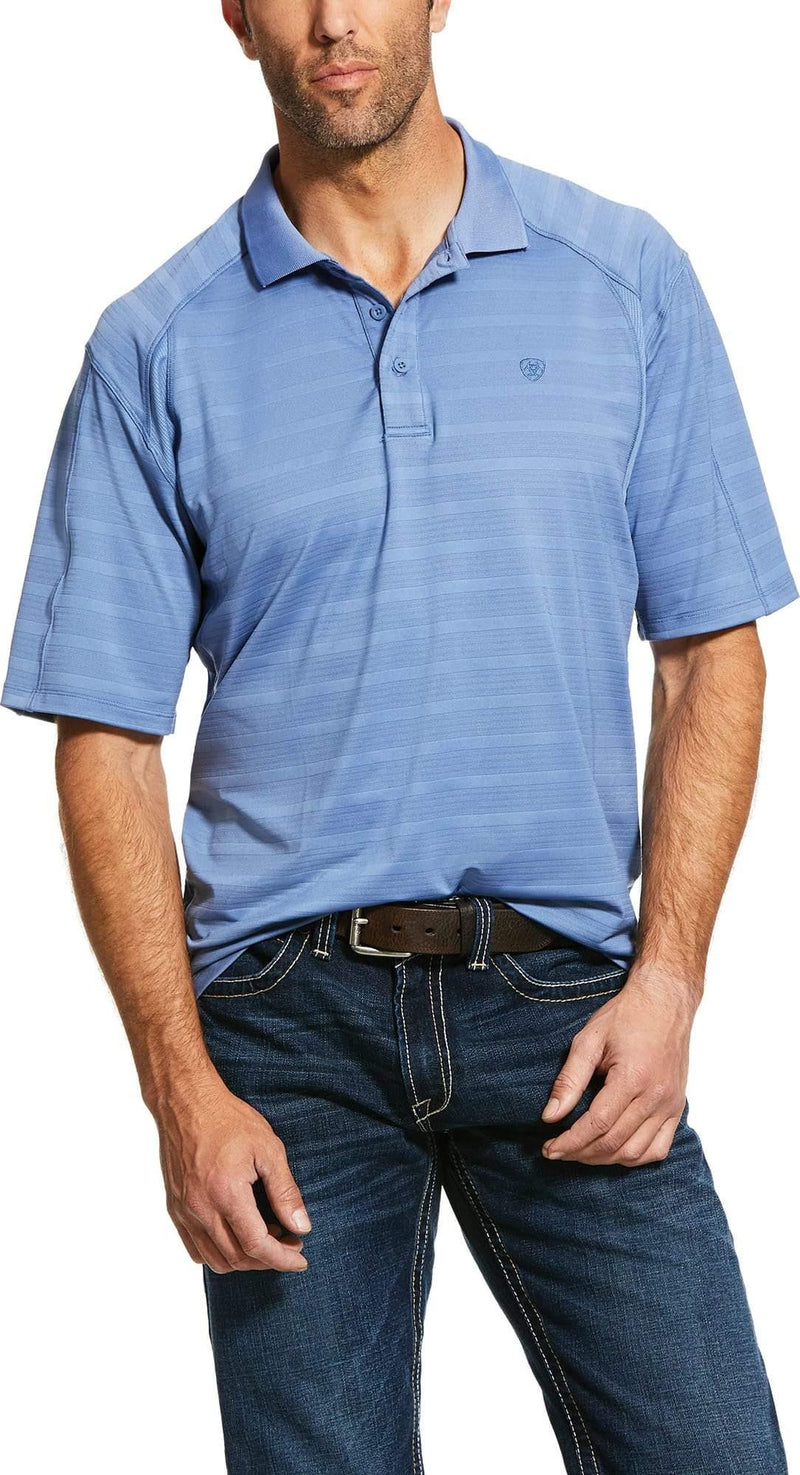 ARIAT AC POLO BLUE HEATHER STRIPE