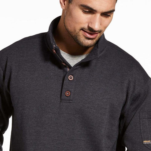 ARIAT REBAR OVERTIME FLEECE SWEATER CHARCOAL HEATHER - Patton's