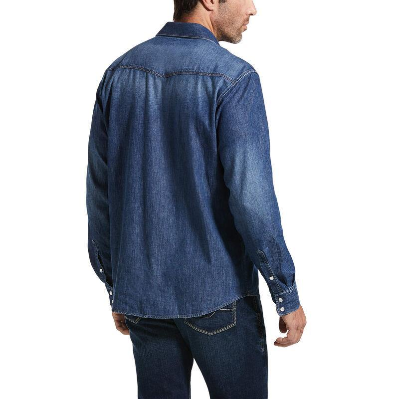 ARIAT CLASSIC FIT DENIM SNAP SHIRT