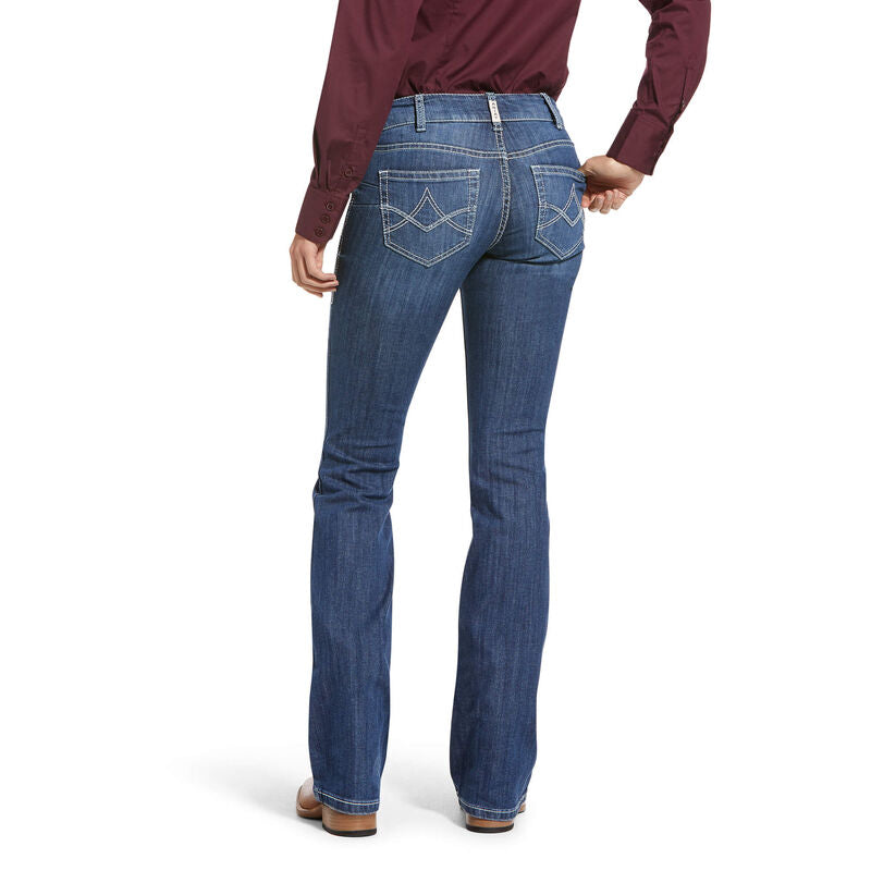 ARIAT WOMEN'S MID RISE LUCY STRAIGHT LEG JEAN