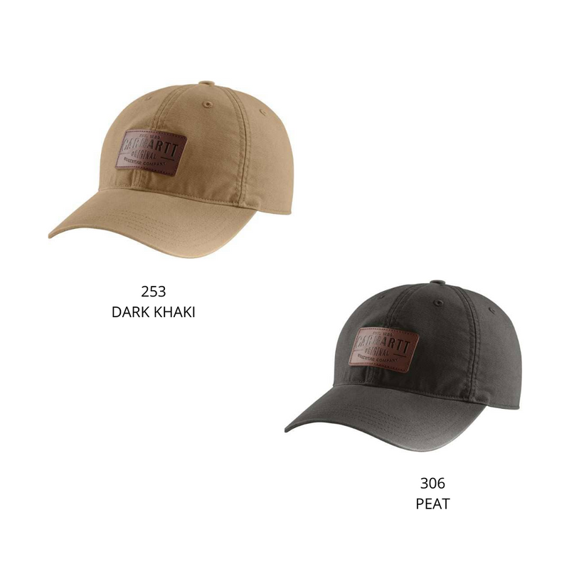 CARHARTT RIGBY LEATHER PATCH CAP