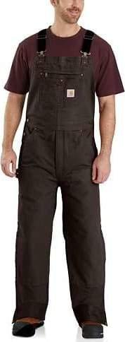 CARHARTT QUILT-LINED WASHED DUCK BIB OVERALLS - Patton's