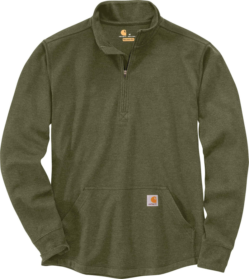 CARHARTT® RELAXED FIT HEAVYWEIGHT LONG-SLEEVE HALF ZIP THERMAL T-SHIRT - Patton's