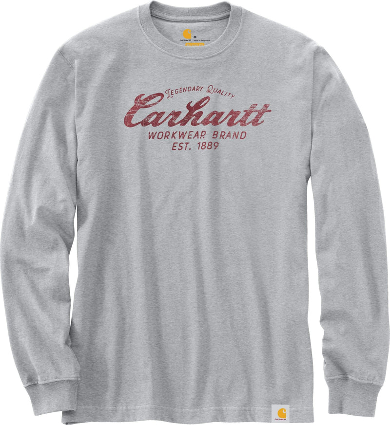CARHARTT® RELAXED FIT HEAVYWEIGHT LONG-SLEEVE QUALITY WORKWEAR GRAPHIC T-SHIRT