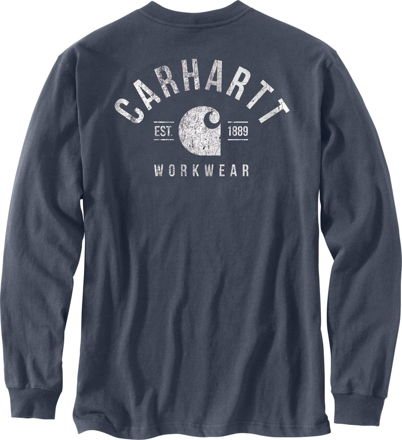 CARHARTT® RELAXED FIT HEAVYWEIGHT LONG-SLEEVE POCKET LOGO GRAPHIC T-SHIRT