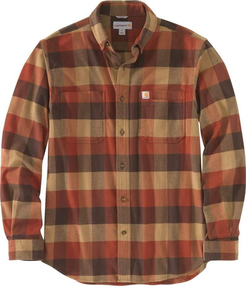 CARHARTT® RUGGED FLEX® RELAXED FIT FLANNEL LONG-SLEEVE PLAID SHIRT - Patton's