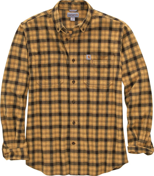 CARHARTT® RUGGED FLEX® RELAXED FIT FLANNEL LONG-SLEEVE PLAID SHIRT