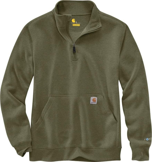 CARHARTT FORCE® RELAXED FIT MIDWEIGHT 1/4 ZIP POCKET SWEATSHIRT - Patton's