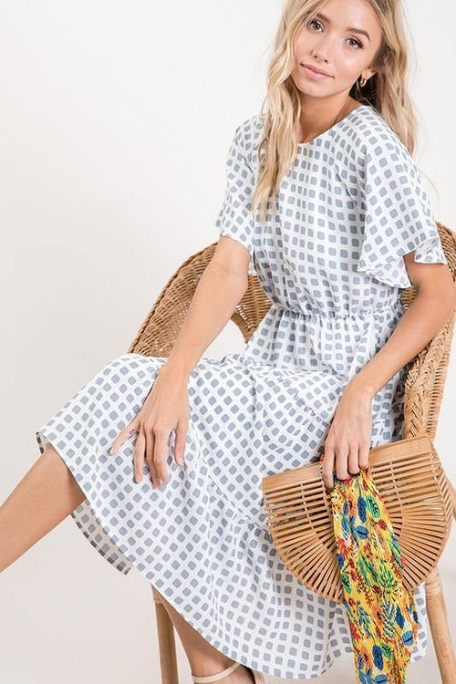 MADELINE PRINTED MIDI DRESS