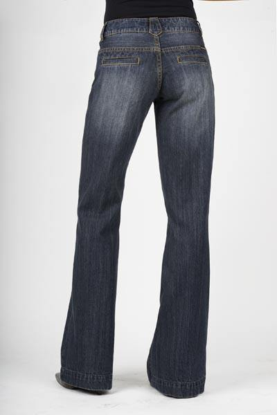 STETSON CITY TROUSER DARK WASH