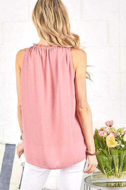 CALLIE SLEEVELESS TOP