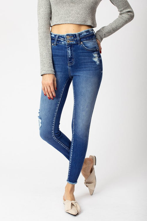 KANCAN GEMMA HIGH RISE ANKLE SKINNY JEAN