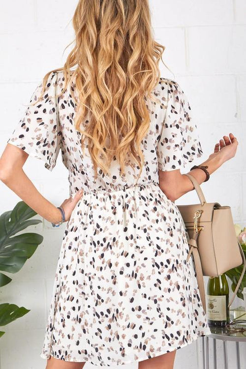 CAROLINE SPECKLE PRINTED DRESS
