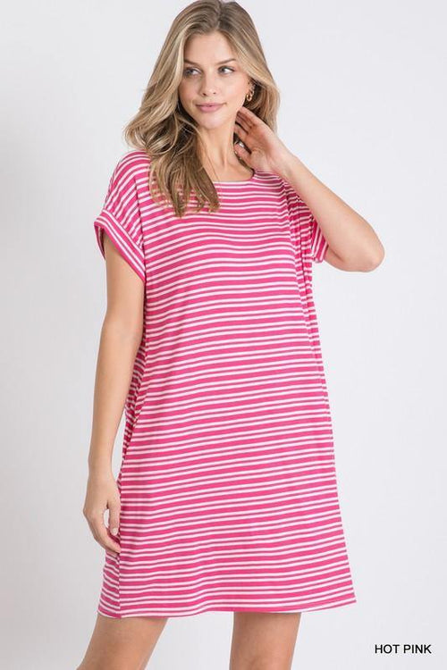 BONNIE STRIPED DRESS