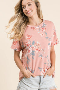 JACKIE FLORAL TUNIC TOP