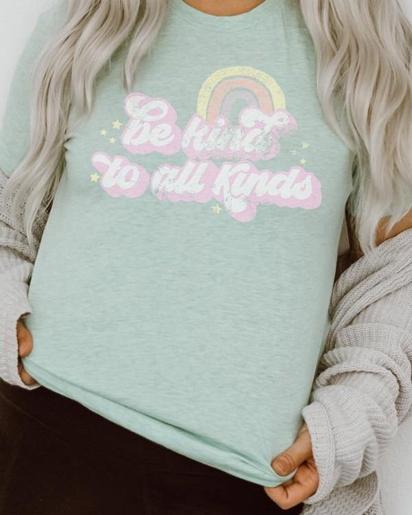 BE KIND TO ALL KINDS GRAPHIC TEE