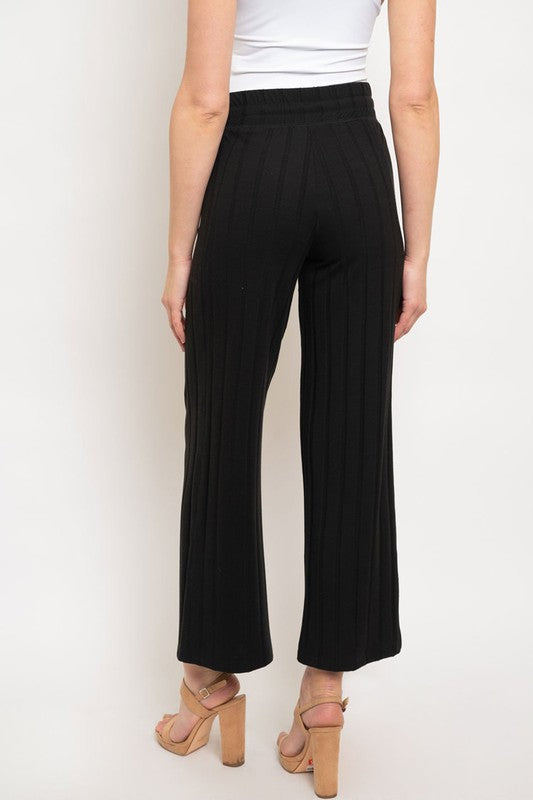 ADDIE MAE RIBBED KNIT PANTS