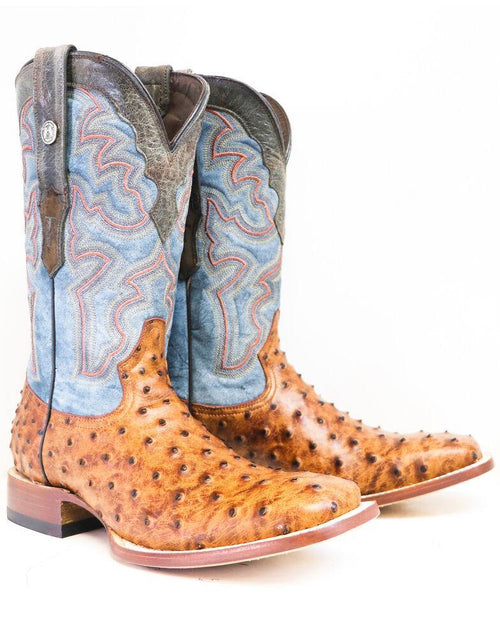 TANNER MARK COGNAC OST PRINT SQUARE TOE BOOT