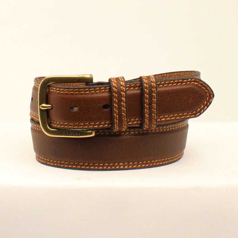 ARIAT MEN'S DOUBLE KEEPER CLASSIC BROWN BELT
