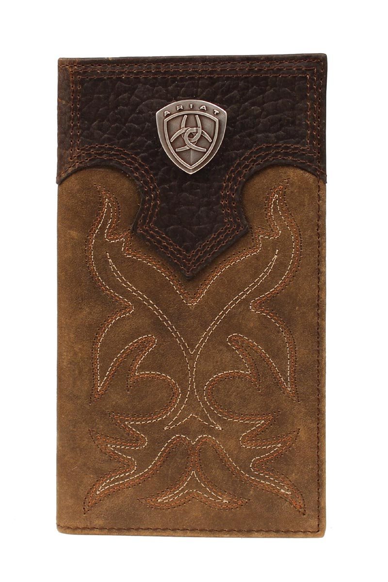 ARIAT BROWN OVERLAY RODEO WALLET