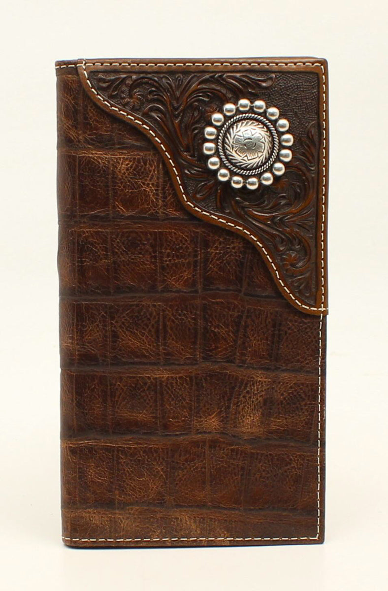 ARIAT GATOR OVERLAY RODEO WALLET