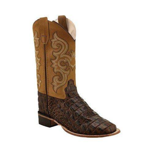 OLD WEST YOUTH CHOC CAIMAN PRINT BOOT