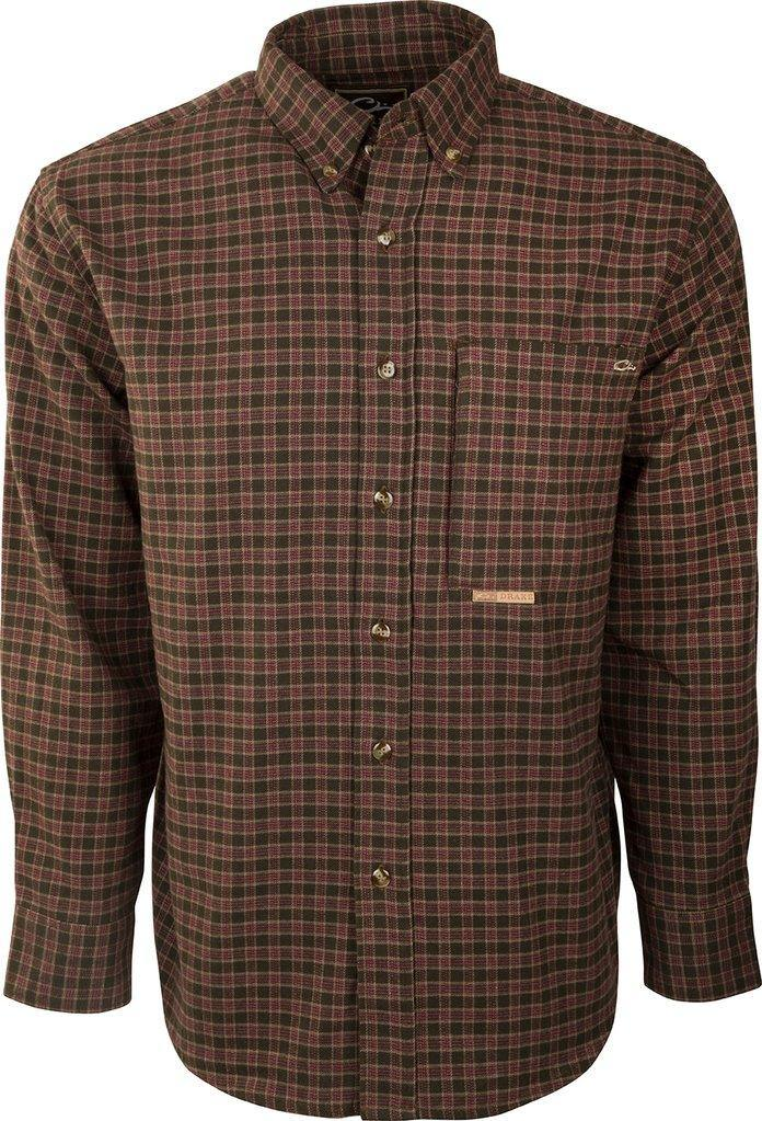 DRAKE AUTUMN BRUSHED TWILL SHIRT