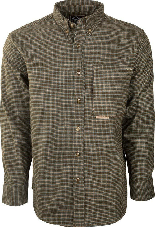 DRAKE AUTUMN BRUSHED TWILL SHIRT - Patton's