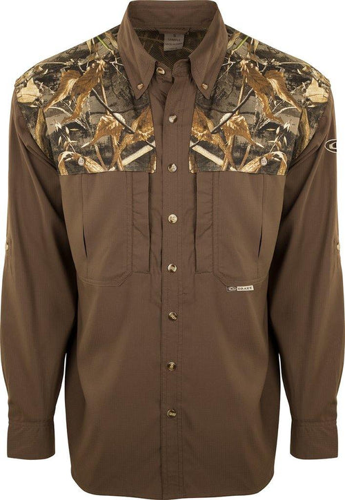 DRAKE TWO TONE CAMO FLYWEIGHT WINGSHOOTER'S SHIRT - Patton's