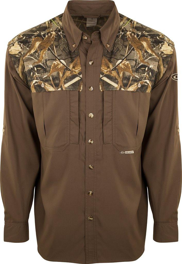 DRAKE TWO TONE CAMO FLYWEIGHT WINGSHOOTER'S SHIRT