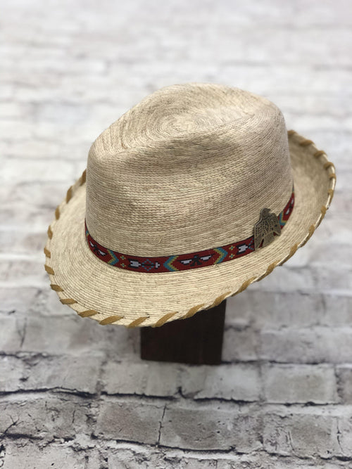 KELSEY FEDORA-TAN LACED EDGE - Patton's