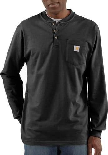 CARHARTT WORKWEAR LONG-SLEEVE HENLEY T-SHIRT - Patton's