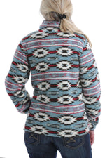 CINCH WOMEN'S AZTEC PRINTED FLEECE PULLOVER