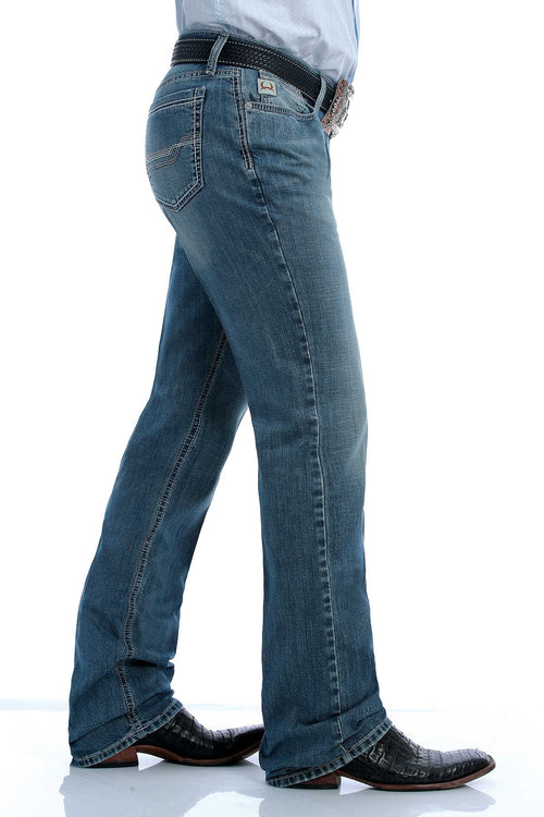 CINCH IAN LIGHT STONEWASH SLIM BOOT CUT JEAN