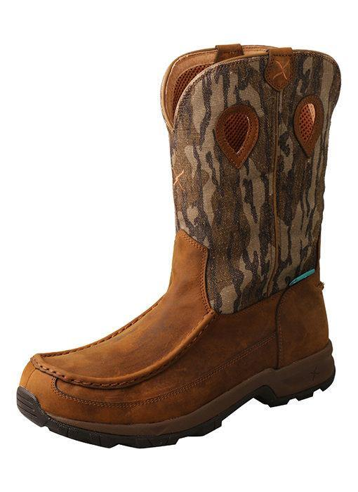 TWISTED X MOSSY OAK PULL ON WATERPROOF HIKER BOOT - Patton's
