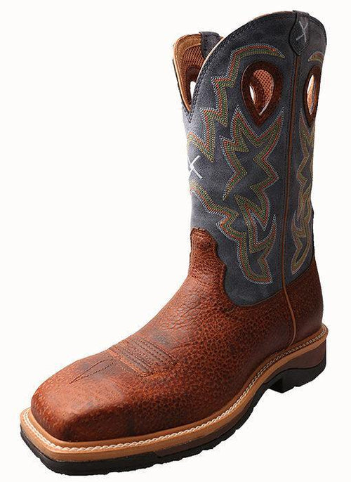 TWISTED X LITE WESTERN WORK BOOT PEANUT NAVY - Patton's