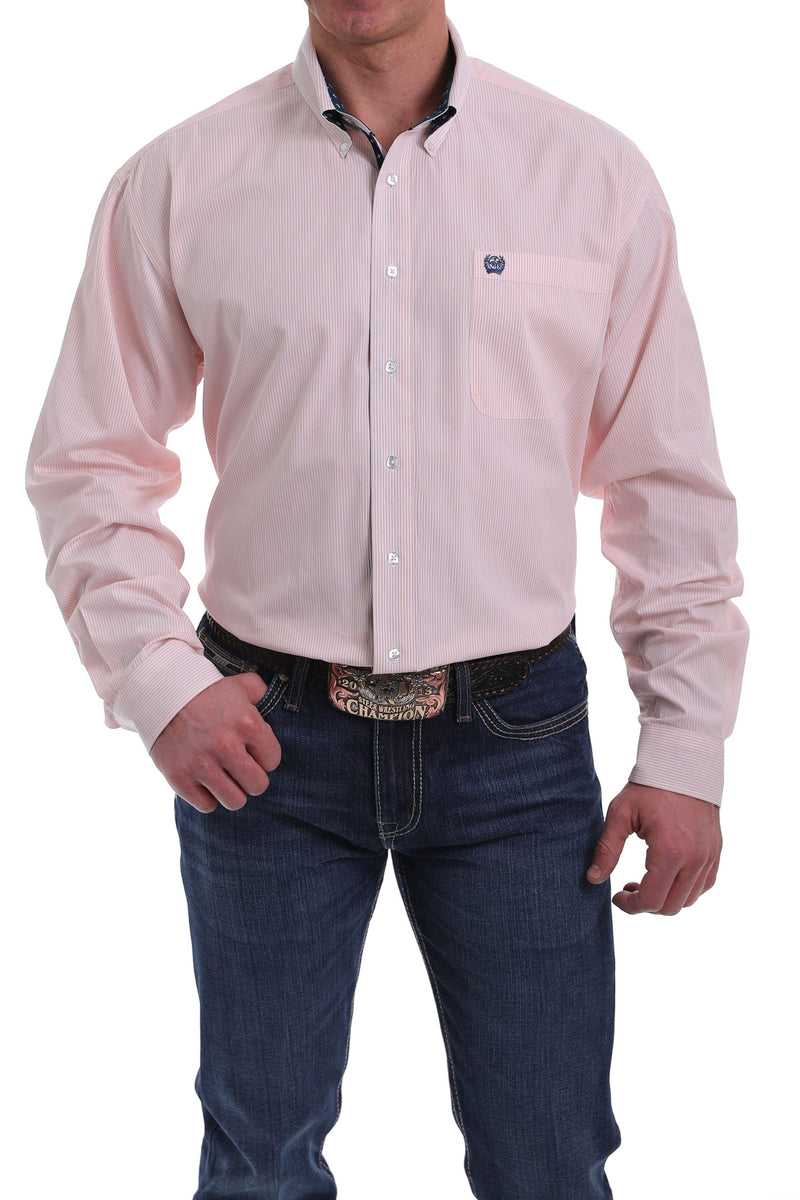 CINCH PEACH STRIPE BUTTON DOWN SHIRT - Patton's