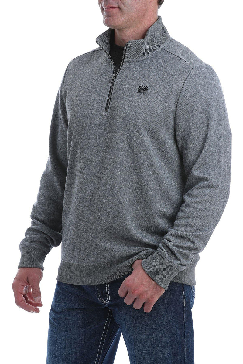 CINCH 1/4 ZIP SWEATER GRAY