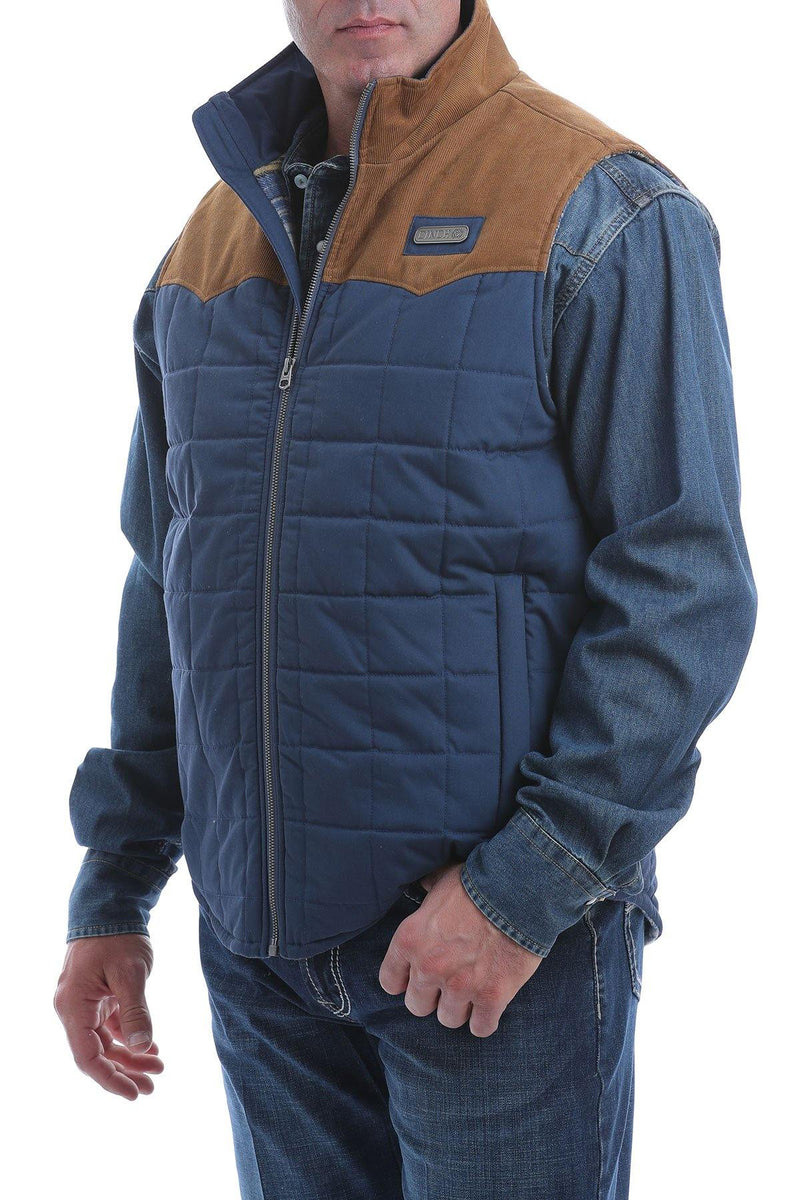 CINCH QUILTED VEST WITH CORDUROY WESTERN YOKES