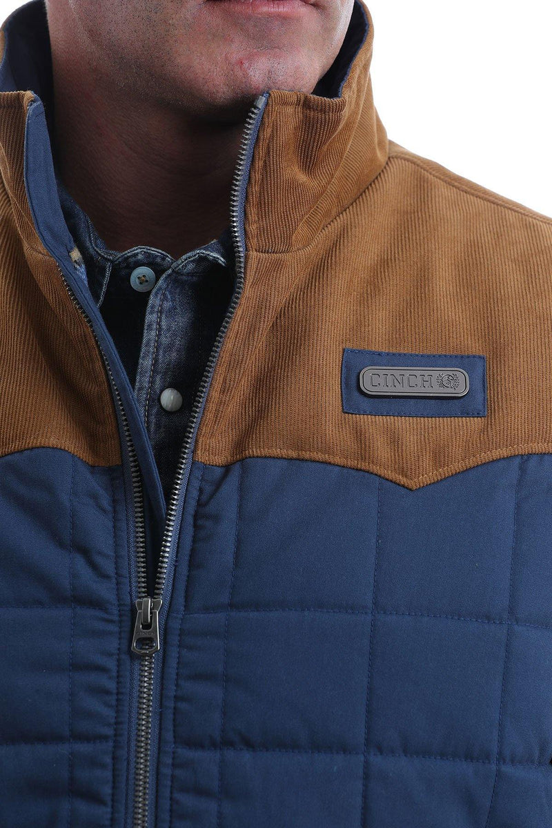CINCH QUILTED VEST WITH CORDUROY WESTERN YOKES - Patton's