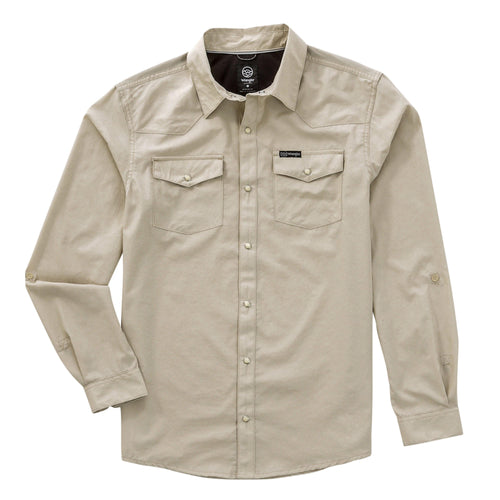 WRANGLER OUTDOOR CHARLIE LONG SLEEVE SNAP SHIRT - Patton's