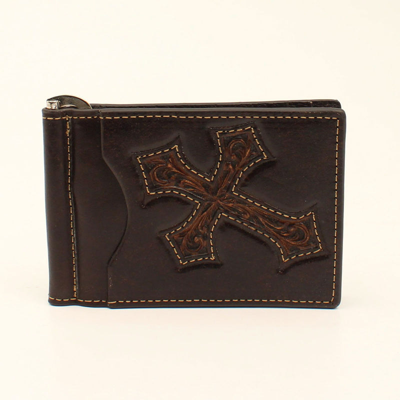 NOCONA BIFOLD MONEY CLIP CROSS OVERLAY WALLET