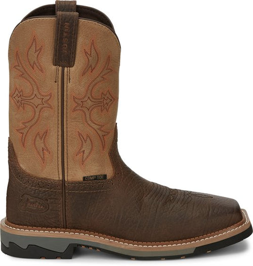 JUSTIN BOLT COMPOSITE SQUARE TOE WORK BOOT