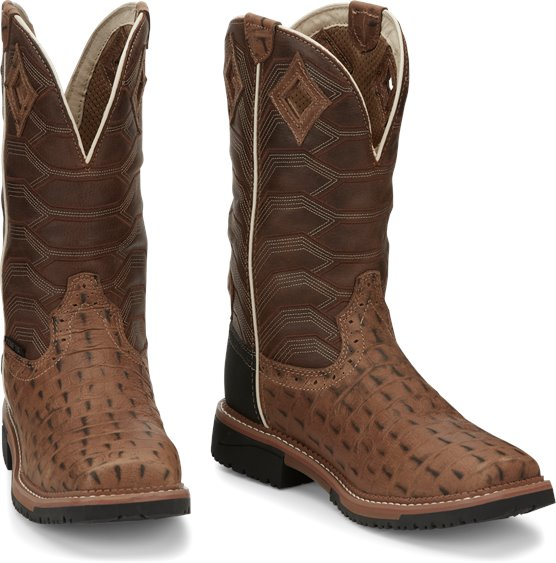 JUSTIN DERRICKMAN COMPOSITE TOE CROCODILE WORK BOOT