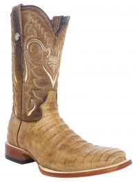 TANNER MARK ANTIQUE SADDLE MAD DOG CAIMAN PRINT BOOTS