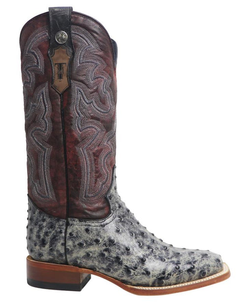 TANNER MARK WOMEN'S RUSTIC BLACK OST PRINT SQUARE TOE BOOTS