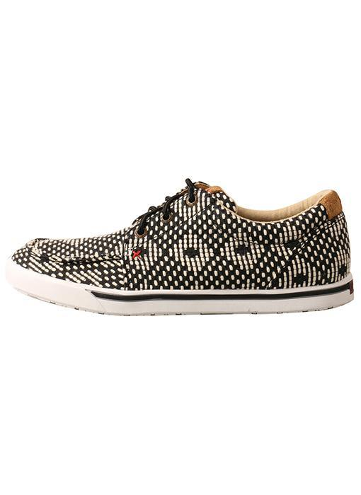 TWISTED X WOMEN'S HOOEY LOPER BLACK/WHITE - Patton's