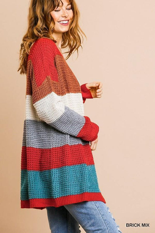 WILLOW STRIPED SWEATER CARDIGAN